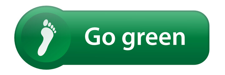 GO GREEN Key on Keyboard (environment recycle carbon green)