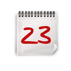 Calendario, Giorno 23