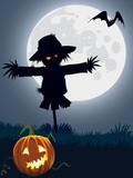 Fototapety Scary scarecrow