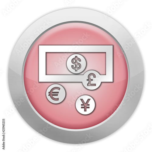 "Light Colored Icon (Red) ""Currency Exchange"""