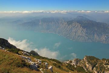 Gardasee - Blick vom Monte Baldo auf Limone