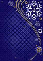 Dark blue christmas frame