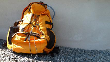 rucksack in orange