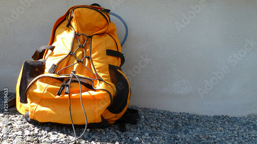 rucksack in orange