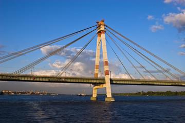 Cable-braced bridge in Cherepovets