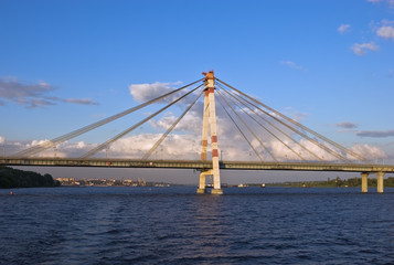 Cable-braced bridge in Cherepovets