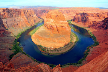 Horseshoe bend of Colorado river in Page Arizona