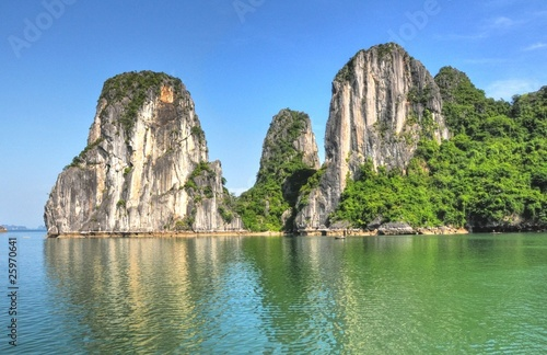 Limestone Mountains, Halong Bay, Vietnam