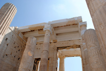 Entrance to Acropolis, Athens, Greece