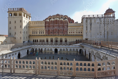 India. Rajasthan, Jaipur, Palace of Winds (Hawa Mahal)