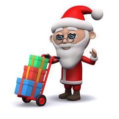 3d Santa delivers some presents