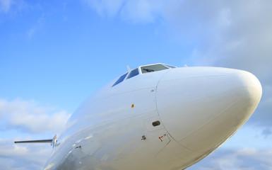 White passanger airplane
