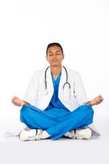indian medical intern meditating