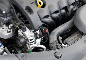 Car alternator and engine