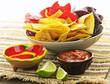 Quadro Tortilla chips and salsa