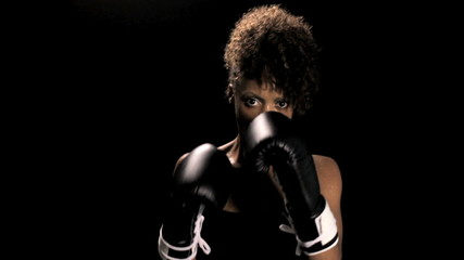 Woman Boxing (med shot)