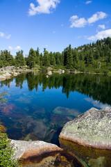 Mountain landscape. Lake of Artists. Siberian Natural Park Ergak