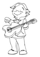 Kind, Junge, Gitarre, Musik, Rock, Rockstar