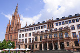 Town Hall and Marktkirche - Wiesbaden, Germany