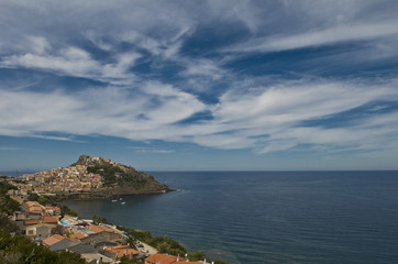 view from castelsardo. sardinia