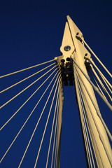 Close up of Millennium Bridge
