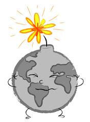 Ecologia: terra che sta per esplodere come una bomba