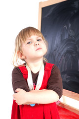 angry preschool with crossed arms