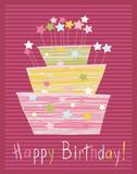 childlike birthday cake poster