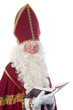 Sinterklaas and his book