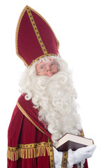 Sinterklaas and his book