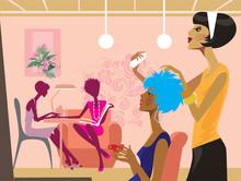 vrouwen in een schoonheidssalon