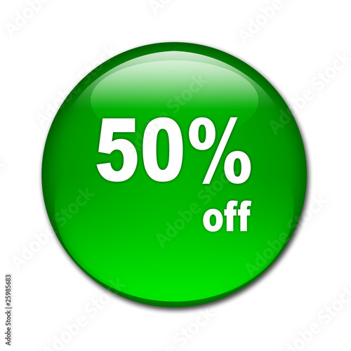Boton brillante texto 50% off