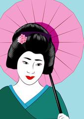 vector japanese women