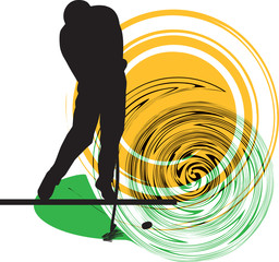 Golfer illustration