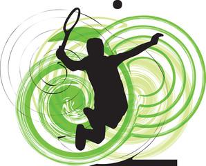 Tennis players illustration.