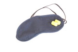 Sleeping mask with ear plugs