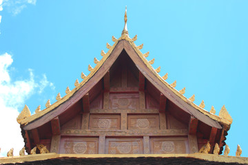 Gable on archway of Phra Tat Luang