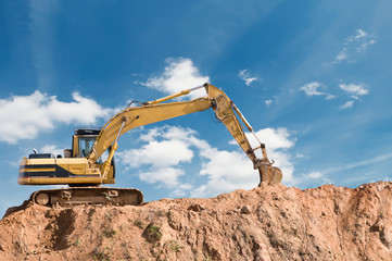 loader excavator machine