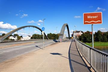 Die Weser in Minden