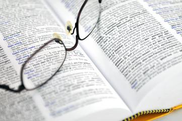 Fremdwörterbuch und Brille