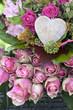 Beautiful pink roses arrangement