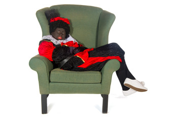 Black Piet lazy in chair
