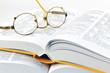 Wörterbücher und Brille