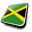 Постер, плакат: jamaica flag button rastafari reggae