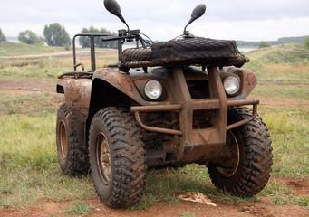 The car in a dirt