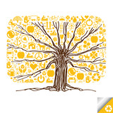 Tree vector background