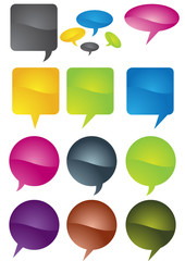 Dialog bubbles vector 9