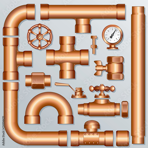Brass Pipelines and Construction elements