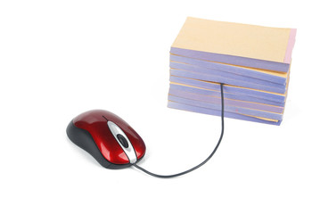red mouse with accounts