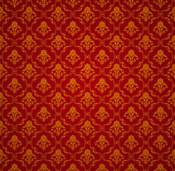 Red, Seamless Pattern